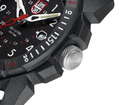 Luminox ICE-SAR ARTIC 1000 Series - CARBONOX 1001 Black/White Front Side Close Up