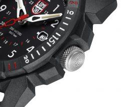 Luminox ICE-SAR ARTIC 1000 Series - CARBONOX 1001 Black/White Front Side Close Up