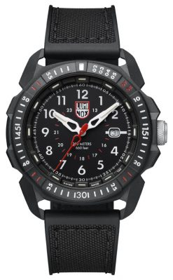 Luminox ICE-SAR ARTIC 1000 Series - CARBONOX 1001 Black/White Front Side Closed Center