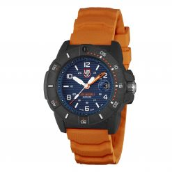 Luminox Navy SEAL 3600 Series 3603 Blue/White/Orange Front Side Closed Angled