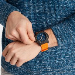 Luminox Navy SEAL 3600 Series 3603 Blue/White/Orange Front Side Closed With Model