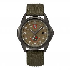 Luminox Atacama Adventurer 1767 Green/Brown Front Side Center