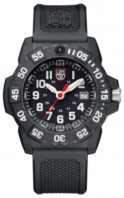 Luminox Navy SEAL 3500 Series 3501.L Black/White Front Side Closed Center