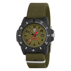 Luminox Navy SEAL 3600 Series 3617.SET Green/Black Front Side Closed Angled