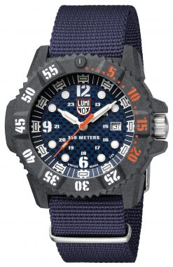 Luminox Master Carbon SEAL 3803.C Blue/Black Front Side Closed Angled