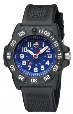 Luminox Navy SEAL 3500 Series 3503.F Blue/White Front Side Closed Angled
