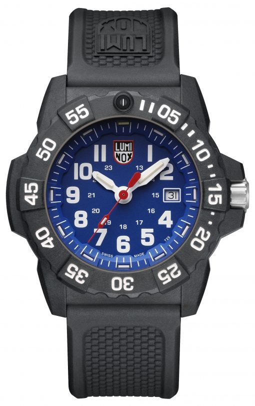 Luminox Navy SEAL 3500 Series 3503.F Blue/White Front Side Closed Center