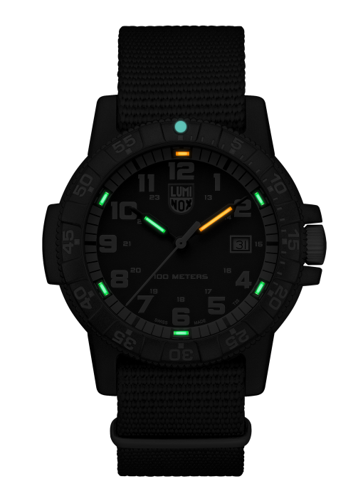Luminox Leatherback SEA Turtle Giant 0333 Front Side Center Night