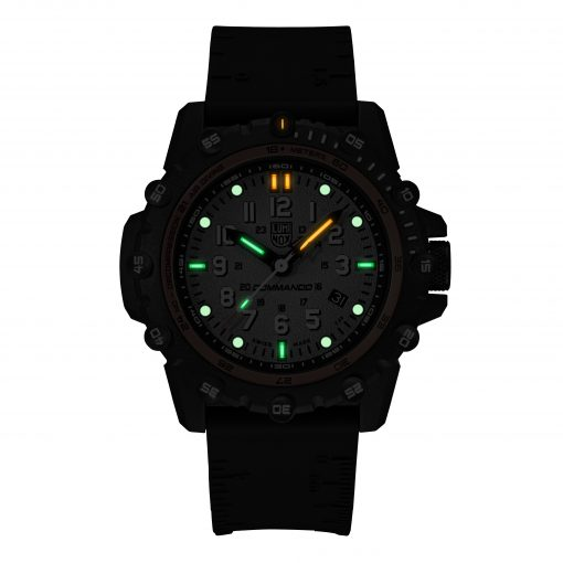 Luminox Commando Frogman 3300 Series 3301 Grey/White Front Side Closed Center Night