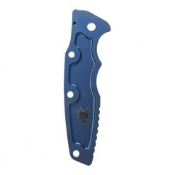 "Hinderer Eklipse 3.5"" Smooth Titanium Scale Stonewash Blue Back Side"