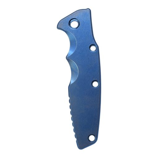 """Hinderer Eklipse 3.5"""" Smooth Titanium Scale Stonewash Blue Front Side"""