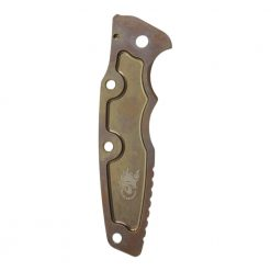 "Hinderer Eklipse 3.5"" Textured Titanium Scale Stonewash Bronze Back Side"