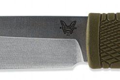 Benchmade Leuku CPM-3V Blade Ranger Green Satoprene Handle Blade Close Up