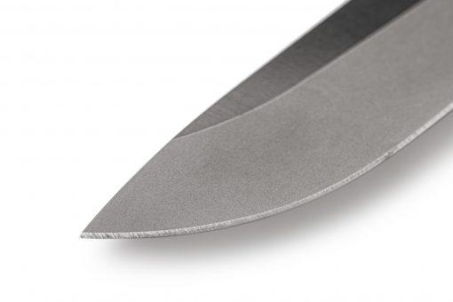 Benchmade Leuku CPM-3V Blade Ranger Green Satoprene Handle Tip Close Up