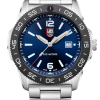 Luminox Pacific Diver 3120 Series 3123 Blue/White Front Side Closed Center