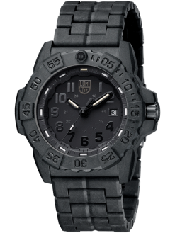 Luminox Navy SEAL 3500 Series 3502.BO Black/Black Front Side Closed Angled