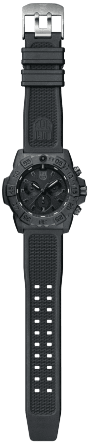 Luminox Navy SEAL Chronograph 3580 Series 3581.BO Black/Black Front Side Open Center