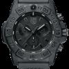 Luminox Navy SEAL Chronograph 3580 Series 3581.BO Black/Black Front Side Closed Center