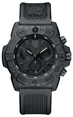 Luminox Navy SEAL Chronograph 3580 Series 3581.BO Black/Black Front Side Closed Center
