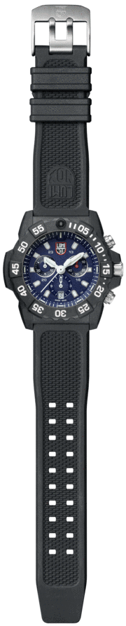 Luminox Navy SEAL Chronograph 3580 Series 3583 Black/Blue Front Side Open CEnter