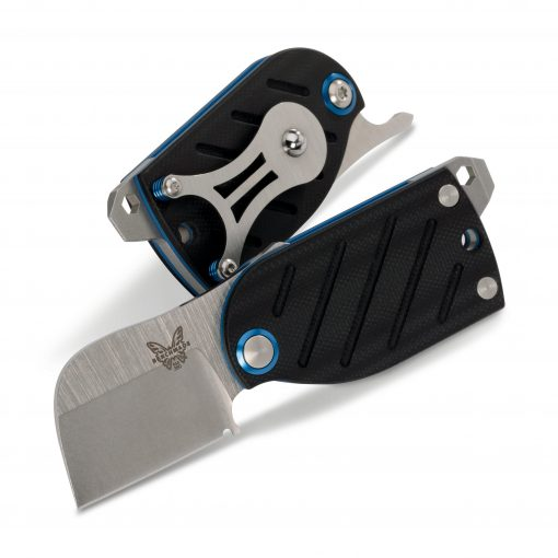 Benchmade Aller S30V Blade Black/Blue G-10 Handle Both