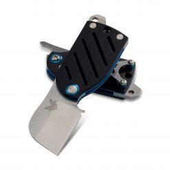 Benchmade Aller S30V Blade Black/Blue G-10 Handle Both 2