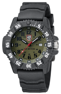 Luminox Master Carbon SEAL 3800 Series 3813.L Green/Black Front Side Closed Angled