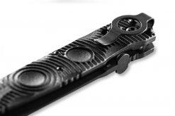 Benchmade SOCP Tactical Folder FPR Black D2 Combo Blade Black CF-Elite Handle Clip Close Up