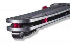 Benchmade Bugout Black DLC M390 Blade 6061-T6 Aluminum Spine Close Up