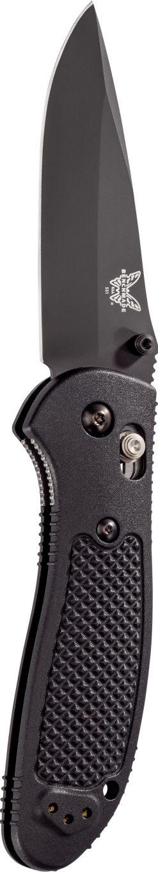 Benchmade Griptilian Black S30V Drop Point Blade Black Nylon Handle Front Side Open Up