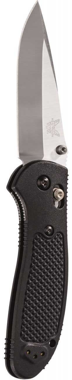 Benchmade Griptilian S30V Drop Point Blade Black Nylon Handle Front Side Open Up