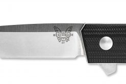 Benchmade Tengu Flipper 20CV Tanto Blade Black G-10 Handle Blade Close Up
