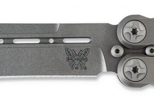 Benchmade 85 Ti Bali-Song FPR S30V Blade Titanium Handle Blade Close Up