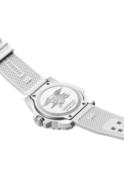 Luminox Navy SEAL 3500 Series 3507.WO White/Silver Back Side Open Angled