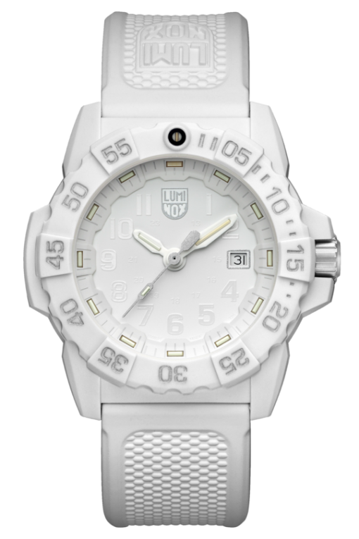 Luminox Navy SEAL 3500 Series 3507.WO White/Silver Front Side Closed Center