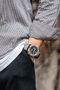 G-Shock Analog Digital Men's Watch Brown GA2000-5A Front Side Closed With Model
