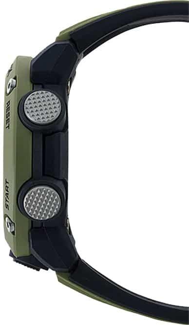 G-Shock Analog Digital Men's Watch OD Green GA2000-3A Side Profile