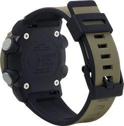 G-Shock Analog Digital Men's Watch Brown GA2000-5A Back Side Closed Angled