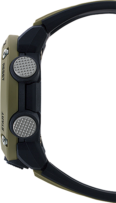G-Shock Analog Digital Men's Watch Brown GA2000-5A Side Profile