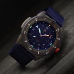 Luminox Bear Grylls ECO Series Limited Edition 3703 Bronze/Blue Front Side Closed With Background