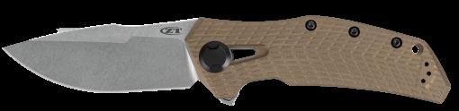 Zero Tolerance 0308 20CV Blade Coyote G-10/Titanium Handle Front Side Open