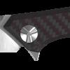 Zero Tolerance 20CV Blade Titanium/Red Carbon Fiber Handle Front Side Open