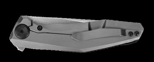 Zero Tolerance 0470 20CV Blade Titanium Handle With Marbled Carbon Fiber Insert Back Side Closed
