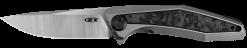 Zero Tolerance 0470 20CV Blade Titanium Handle With Marbled Carbon Fiber Insert Front Side Open
