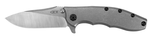 Zero Tolerance 0562TI 20CV Blade Stonewashed Titanium Handle Front Side Open