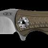 Zero Tolerance 0609 20CV Blade Bronze Anodized Titanium Handle Front Side Open