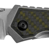 Zero Tolerance 0640 20CV Blade Titanium Handle With Green Carbon Fiber Overlay Front Side Open
