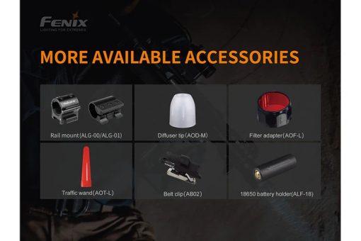 Fenix TK22UE Tactical Flashlight - 1600 Lumens Infographic 9
