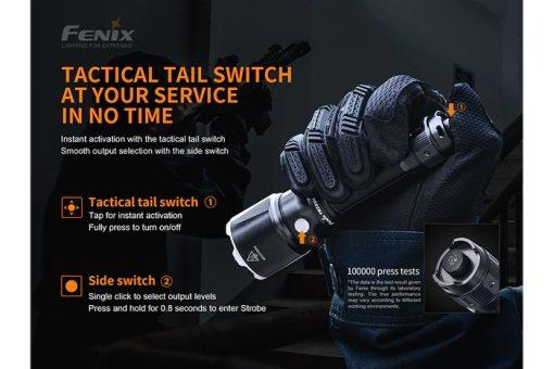 Fenix TK22UE Tactical Flashlight - 1600 Lumens Infographic 3