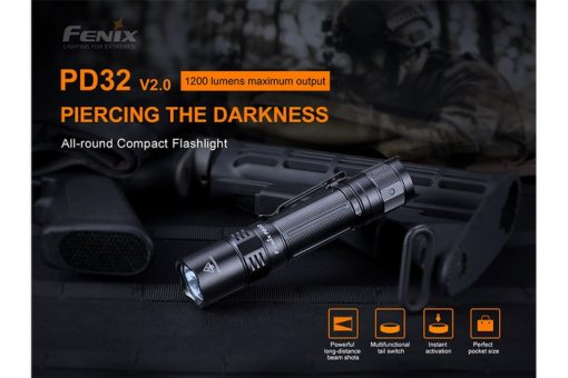 Fenix PD32 V2.0 Compact Flashlight - 1200 Lumens Infographic 5